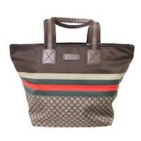 Gucci Unisex Brown Nylon Diamante Travel Tote Handbag 267922 8636 - One size