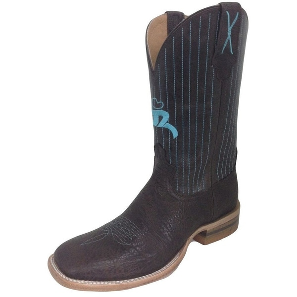HOOey Western Boots Mens Cowboy Square Toe Chocolate