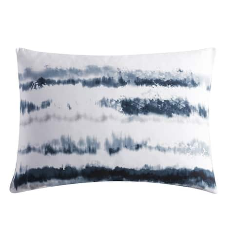 Vera Wang Obscura Cotton Blue Duvet Cover and Coordinating Shams