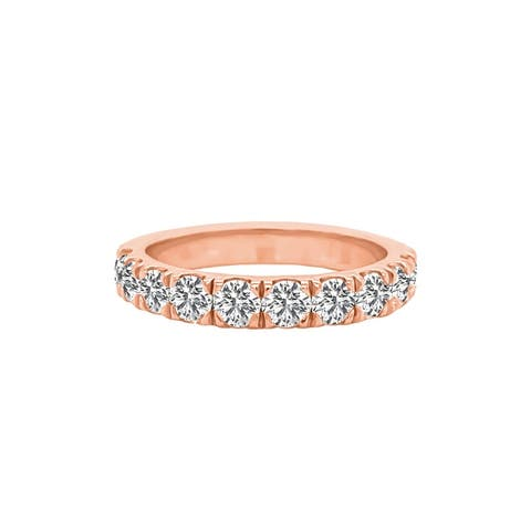 14K Gold Diamond Wedding Band (1.00 Ct, G-H Color, SI2-I1 Clarity) by Noray Designs