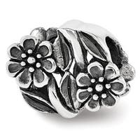 Sterling Silver Reflections Flowers Bead (4mm Diameter Hole)