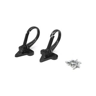 2Pcs Black Screw Mount Fixation Motorcycle Hanger Hook Bag Holder