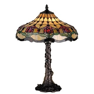 19.5 Inch H Colonial Tulip Table Lamp