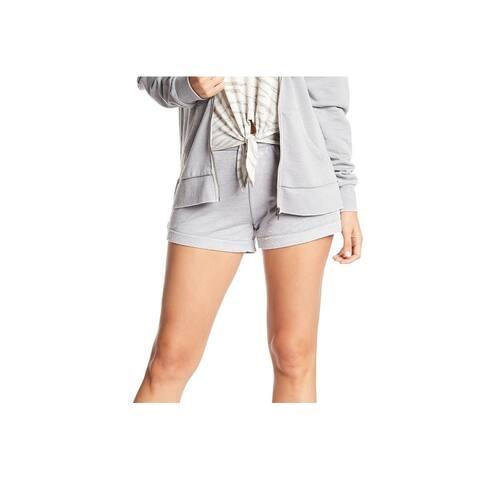 Alternative Womens Shorts Deep Gray Size Medium M Burnout Drawstring