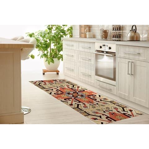 CATALINA IVORY Kitchen Mat by Kavka Designs