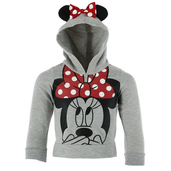 d1cef8a50c3 Shop Disney Children s Minnie Mouse Hoodie with Ears and Bow - Free ...