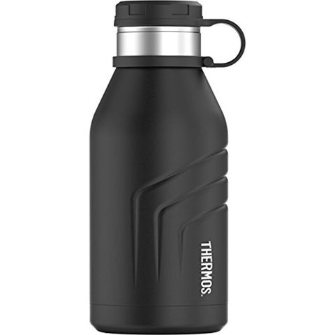 Thermos Element5 Vacuum Insulated Beverage Bottle with Screw Top Lid (32 oz/ Black)