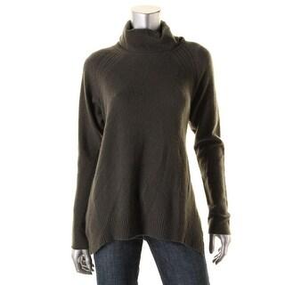 VELVET BY GRAHAM & SPENCER Womens Cashmere Knit Turtleneck Sweater