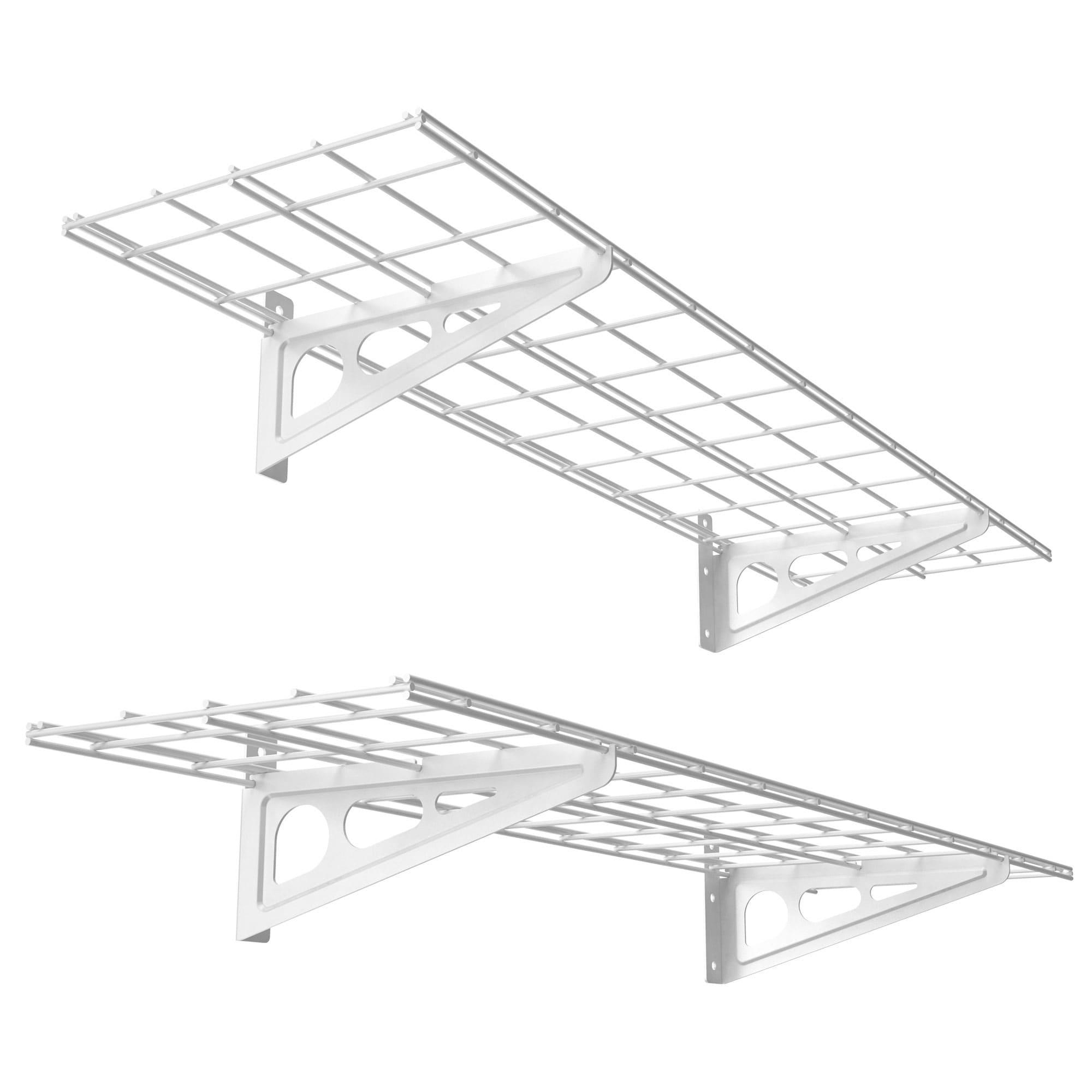 Fleximounts Wall Mounted Shelves Garage Storage Metal Shelf White 1 X4