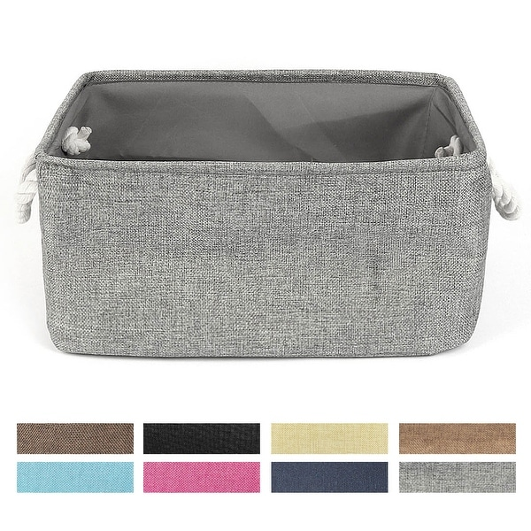 Canvas Toy Bins for Laundry Clothes Storage Home Organizer