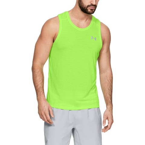Under Armour Mens Shirt Green Size XL Activewear Fitted Tank Top