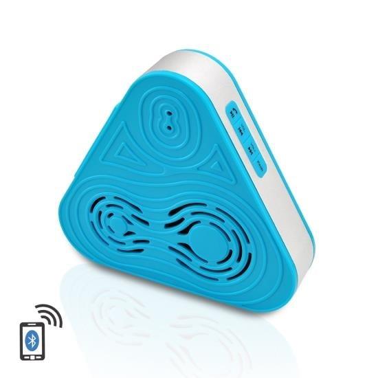 Tri-Way Clear Sound Bluetooth Wireless Waterproof Shower Speaker & Hands Free Speaker-phone W/ AUX IN (Blue Color)