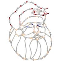 "18"" Lighted Santa Christmas Window Silhouette Decoration (Pack of 4)"