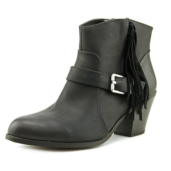 Circus by Sam Edelman Leah Women Round Toe Leather Black Ankle Boot
