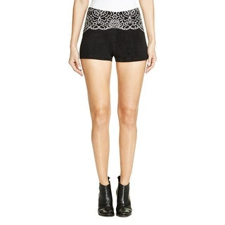 Minkpink Womens Wild Hearts Casual Shorts Corduroy Embroidered