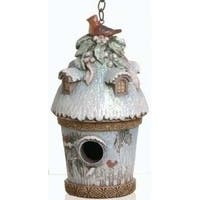 "Nature's Story Teller Christmas Decorative Birdhouse Figure 7"" - multi"