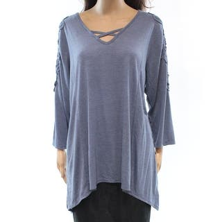 Style & Co. NEW Blue Crochet Embroidered Women's Size 3X Plus Blouse|https://ak1.ostkcdn.com/images/products/is/images/direct/e944054299735669b699e0d8ecb8d3bbc1f49e92/Style-%26-Co.-NEW-Blue-Crochet-Embroidered-Women%27s-Size-3X-Plus-Blouse.jpg?impolicy=medium