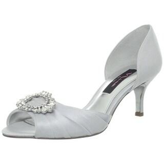 Nina Crystah Women's Heels Silver Royal Size 8 M
