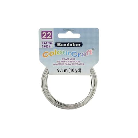 Beadalon ColourCraft Wire 22ga Silver 10yd