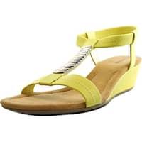Alfani Vacay Women  Open Toe Synthetic Yellow Wedge Sandal
