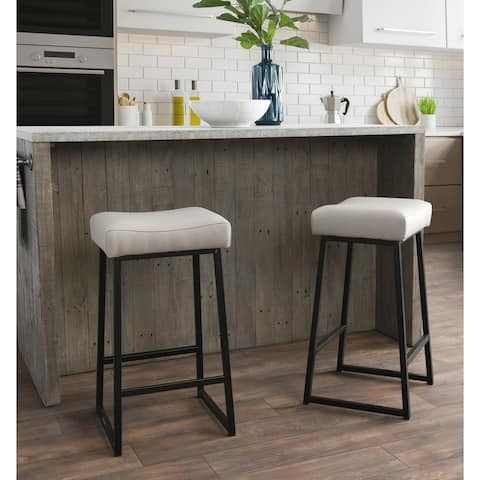 """Amber 26"""" Counter Stool Stone (Set of 2) - Seat height 26"""""""