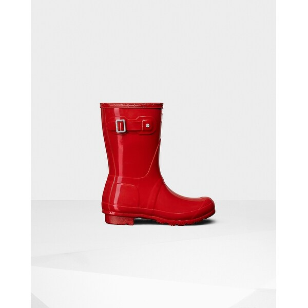 3b368b47c Hunter Womens Original short gloss Rubber Closed Toe Mid-Calf Rainboots