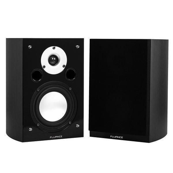 Fluance XL7SBK High Performance Two-way Bookshelf Surround Sound Speakers