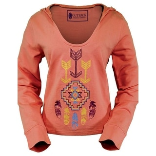 Outback Trading Sweatshirt Women Stylish Wind Hoodie Aztec Coral 40117