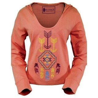 Outback Trading Sweatshirt Women Stylish Wind Hoodie Aztec Coral