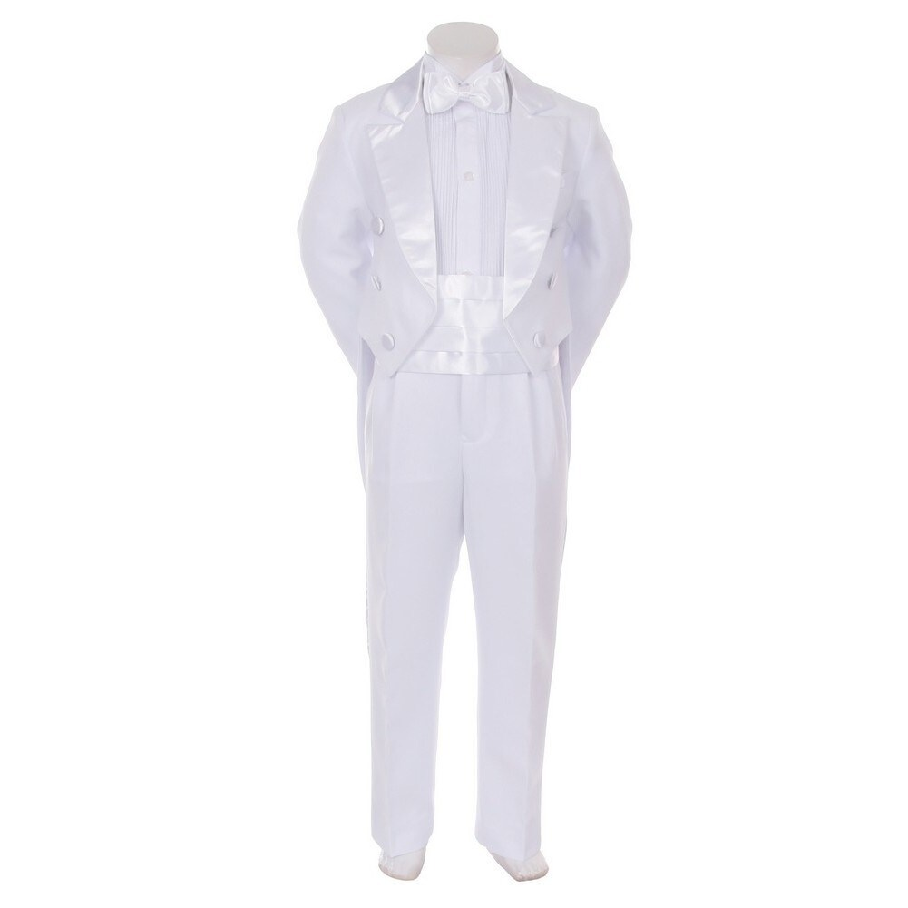 Kids Dream Ivory Formal 5 pcs Tail Special Occasion Boys Tuxedo 2-5T