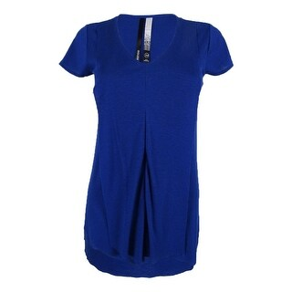 Kensie Women's Ribbed Draped Top - midnight sapphire (2 options available)
