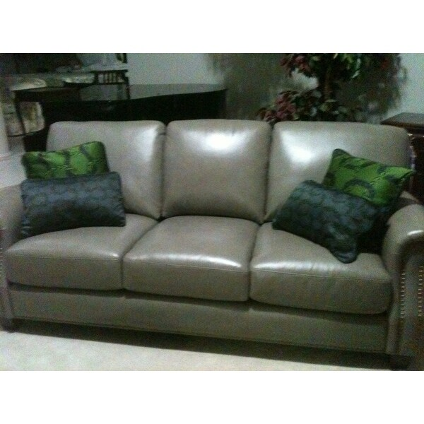 Abbyson Landon Top Grain Leather Sofa And Loveseat   Free Shipping Today    Overstock.com   16933832
