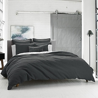 Kenneth Cole Reaction Home Waffle  Duvet Cover in Charcoal