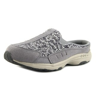 Easy Spirit Travel Time Women Round Toe Leather Gray Loafer