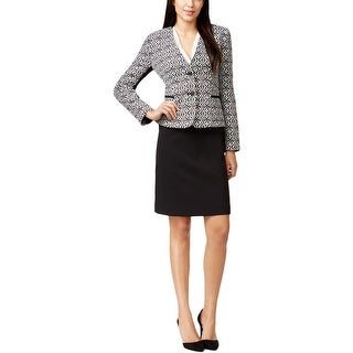 Tahari Womens Skirt Suit Jacquard 2PC