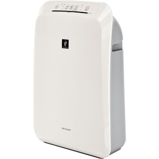 Sharp FPF50UW Plasmacluster Ion Air Purifier with True HEPA Filter - White