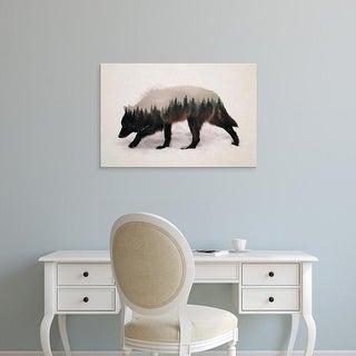 Easy Art Prints Andreas Lie's 'Winter Hunt' Premium Canvas Art