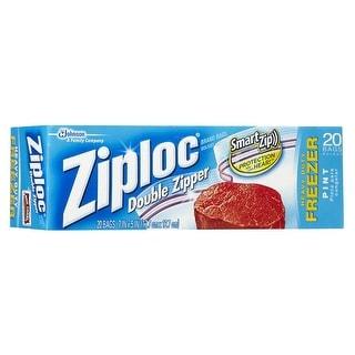 """Ziploc 90512 Zipper Freezer Bag, 6-1/2"""" x 7"""", 20-Count"""