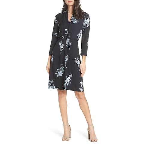 French Connection Womens Floral Jersey Dress
