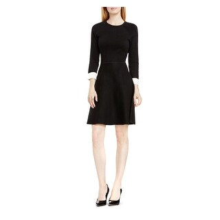 Vince Camuto Womens Sweaterdress Fit & Flare Bracelet Sleeve
