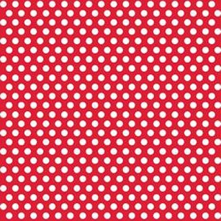 "Ruby Red - Decorative Dots Gift Wrap 30""X5'"