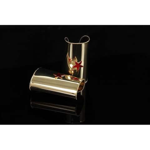 Wonder Gold Cuff Red Star Costume Jewelry Adult - Silver