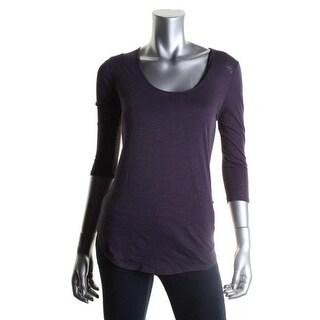 Calvin Klein Jeans Womens Pullover Top Slub Circle Hem - xL