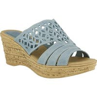 Spring Step Women's Vino Blue Leather