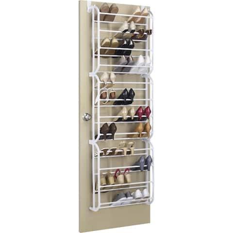Whitmor 6780-4679-wht otd shoe rack 36 pair