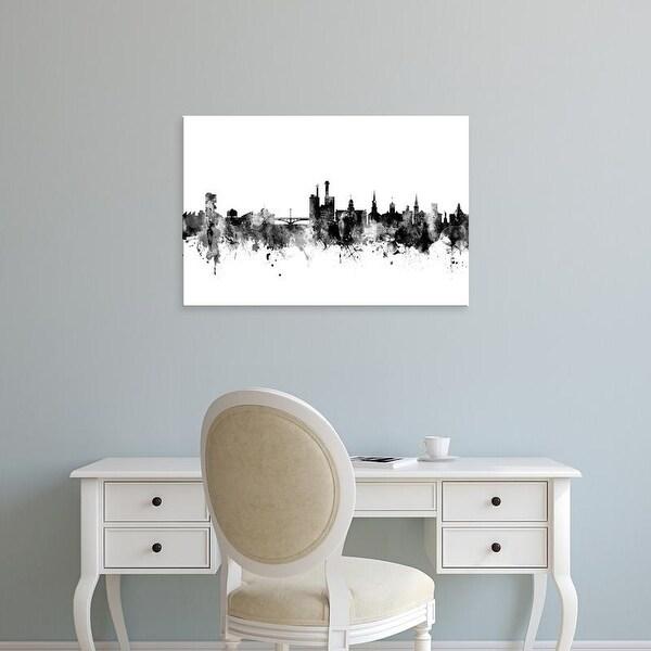 Easy Art Prints Michael Tompsett's 'Iowa City Iowa Skyline' Premium Canvas Art