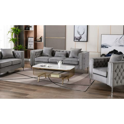 Lorreto Modern Contemporary Velvet Sofa Couch