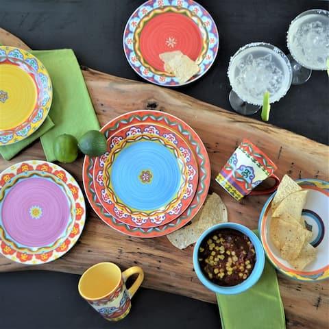 Euro Ceramica Galicia Stoneware 16-Piece Dinnerware Set (Service for 4)