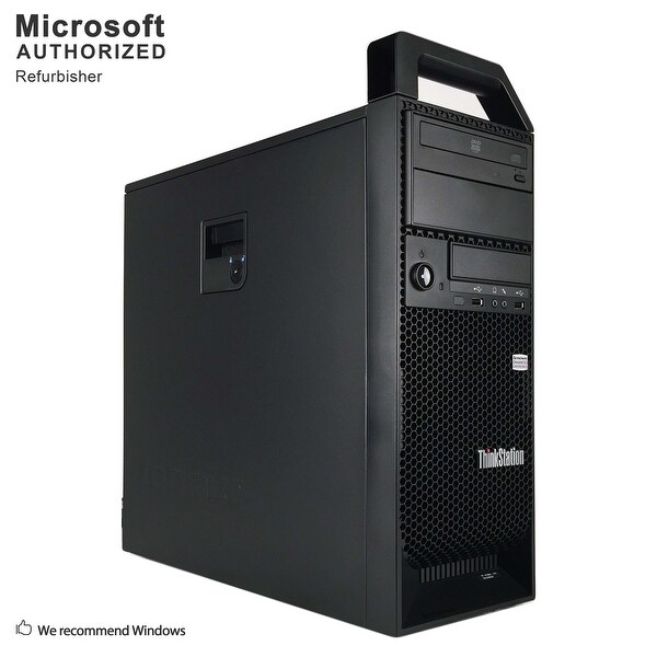 Certified Refurbished Lenovo S30 TW, XEON E5-1603 2.8G, 16GB DDR3, 240G SSD + 2TB HDD, 1GB VC, DVD, WIFI, BT 4.0, W10P64 (EN/ES)