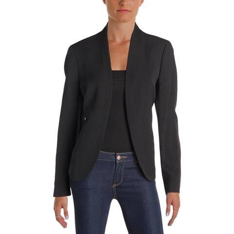Anne Klein Womens Blazer Textured Shawl Collar